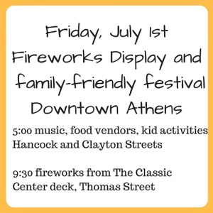 Friday, July 1st Fireworks Display and family-friendly festivalDowntown-5